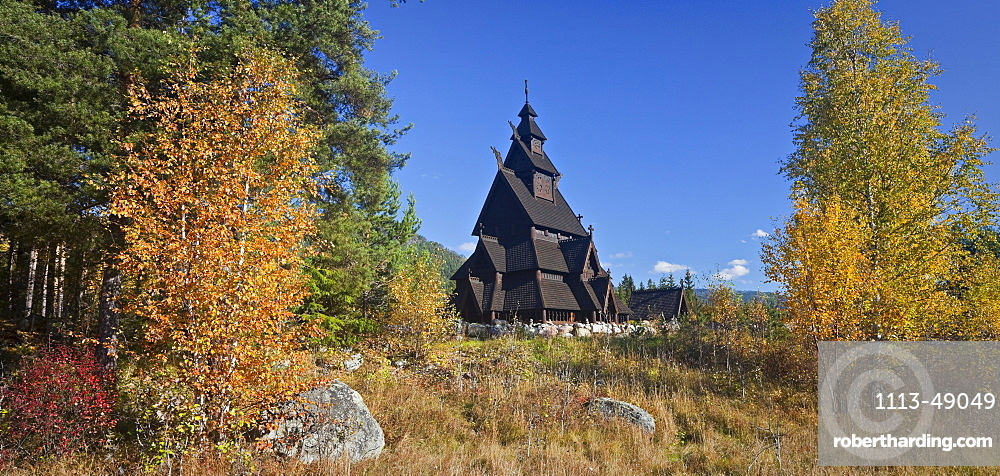 Replica of the Gol stave church, Norwegian Museum of Cultural History, Bygdoy, Norway
