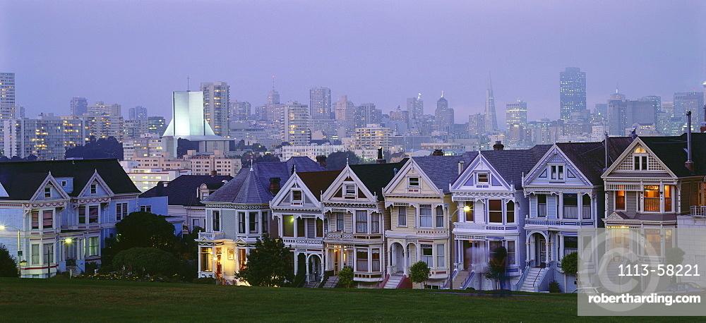 Cityscape from Alamo Square, Skyline, San Francisco, California, USA