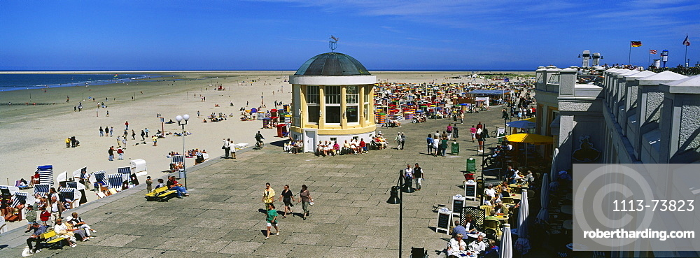 Boardwalk, Borkum, East Frisian Island, Lower Saxony, North Sea, Germany, Europe