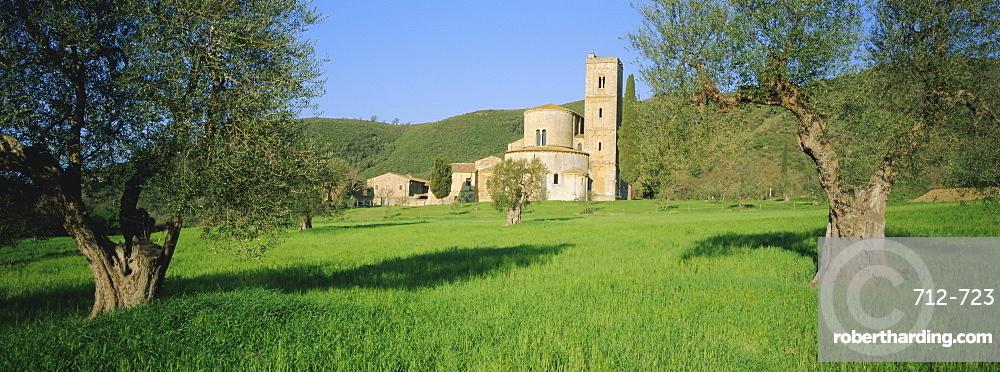 San Antimo Abbey, Siena Province, Tuscany, Italy