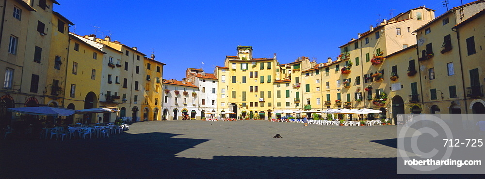 Piazza dell' Anfitearto Lucca, Tuscany, Italy, Europe
