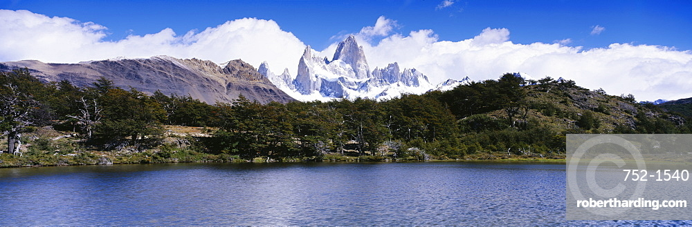 Clouds over mountains, Fitz Roy Range, Los Glaciares National Park, Patagonia, Argentina