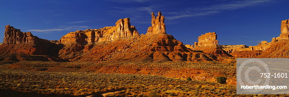 Rock formations on a landscape, Monument Valley Tribal Park, Monument Valley, Arizona, USA