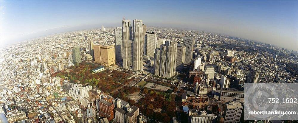 Aerial view of a city, Shinjuku Ward, Tokyo Prefecture, Japan