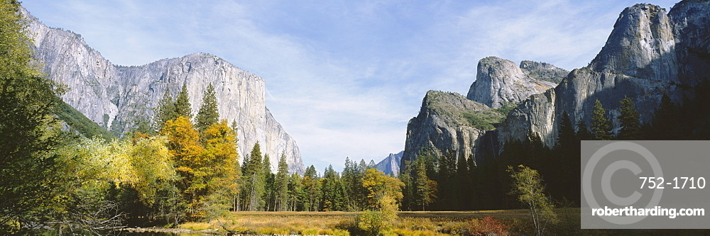 Low angle view of mountains in a national park, Yosemite National Park, California, USA