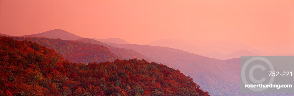 Autumn Blue Ridge Mountains SC USA
