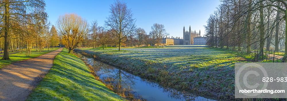 King's College Chapel, Cambridge University, The Backs, Cambridge, Cambridgeshire, England, United Kingdom, Europe