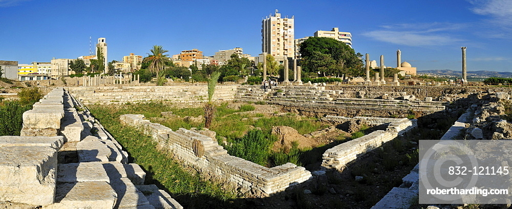 Antique archeological site if Tyros, Tyre, Sour, Unesco World Heritage Site, Lebanon, Middle East, West Asia