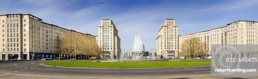 Karl Marx Allee, Strausberger Platz square, Berlin, Germany, Europe