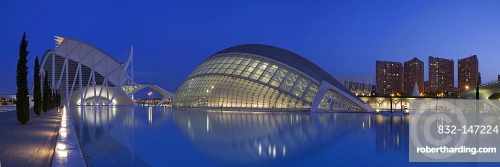 La Ciudad de las Artes y las Ciencias, City of Arts and Sciences, Valencia, Comunidad Valencia, Spain, Europe