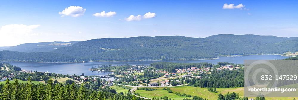 Schluchsee and Schluchsee Lake, Black Forest, Baden-Wuerrtemberg, Germany, Europe