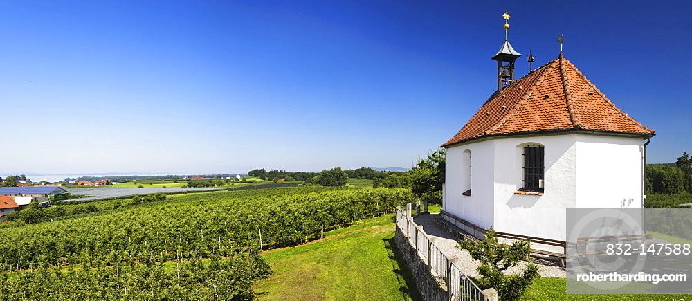 Chapel of St. Anthony near Kressbronn, Lake Constance, Baden-Wuerttemberg, Germany, Europe