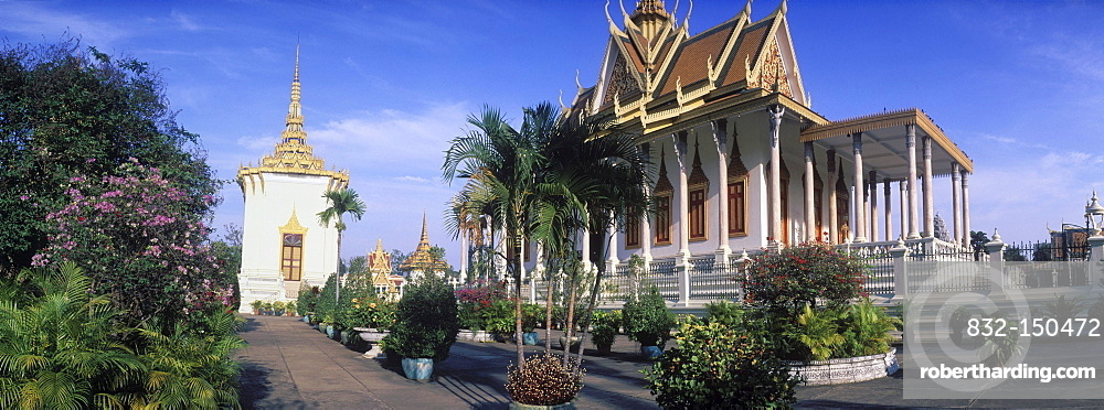 Silver Pagoda, Royal Palace, Phnom Penh, Cambodia, Indochina, Southeast Asia, Asia