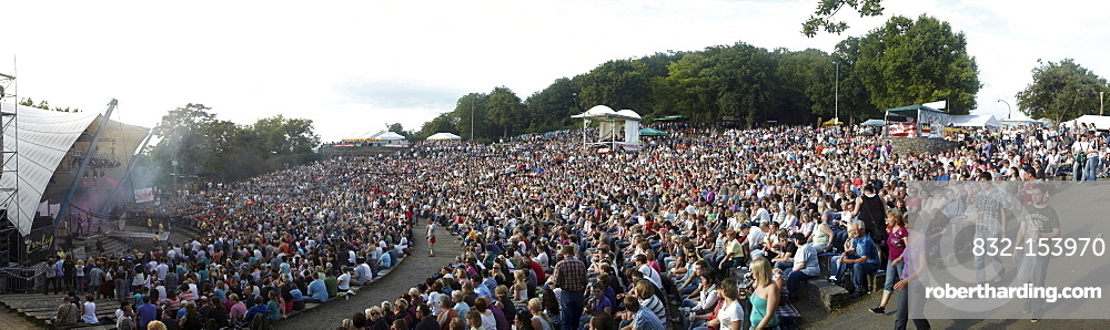 Concert of the pop band Pur on the Loreley open air stage, St. Goarshausen, Rhineland-Palatinate, Germany, Europe