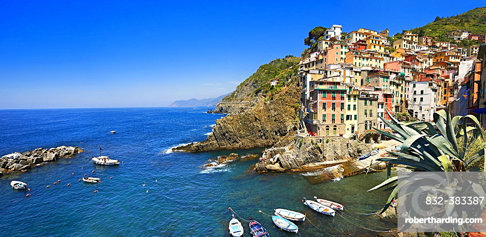 Townscape of Riomaggiore, Cinque Terre National Park, Liguria, Italy, Europe
