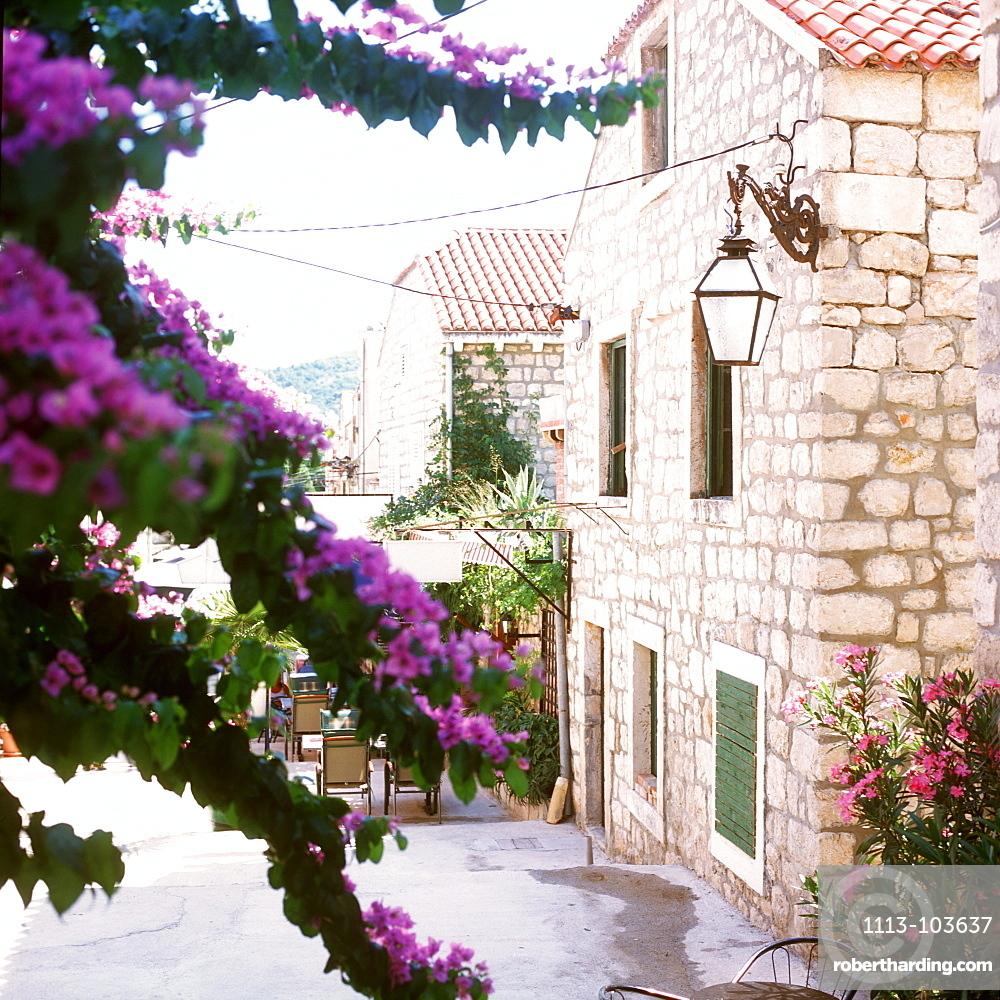 Old stone house in Ston, Peljesac, Dalmatia, Croatia