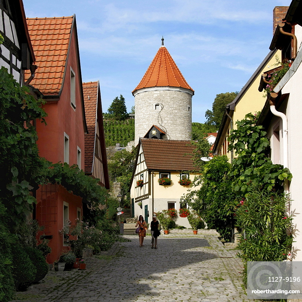 Red Tower, Sommerhausen, Bavaria, Germany / Roter Turm