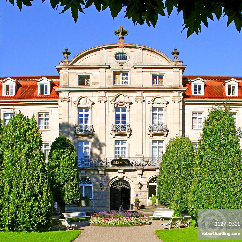 Spa gardens, Park Hotel, Bad Bruckenau, Bavaria, Germany
