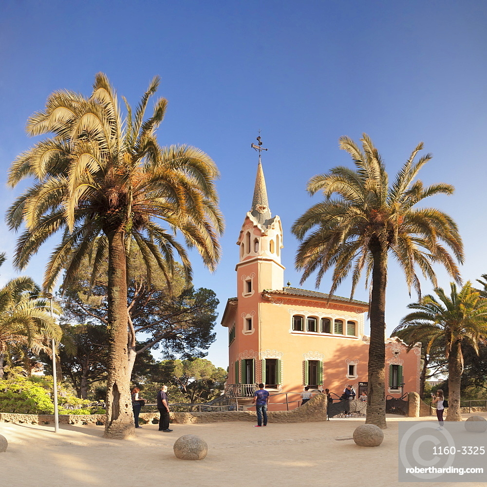 Casa Museu Gaudi, Parc Guell, UNESCO World Heritage Site, Modernisme, architect Antoni Gaudi, Barcelona, Catalonia, Spain, Europe