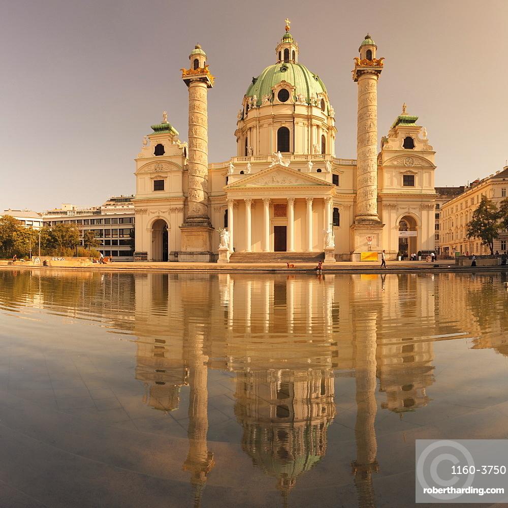 Karlskirche Church at Karlsplatz Square, Vienna, Austria, Europe