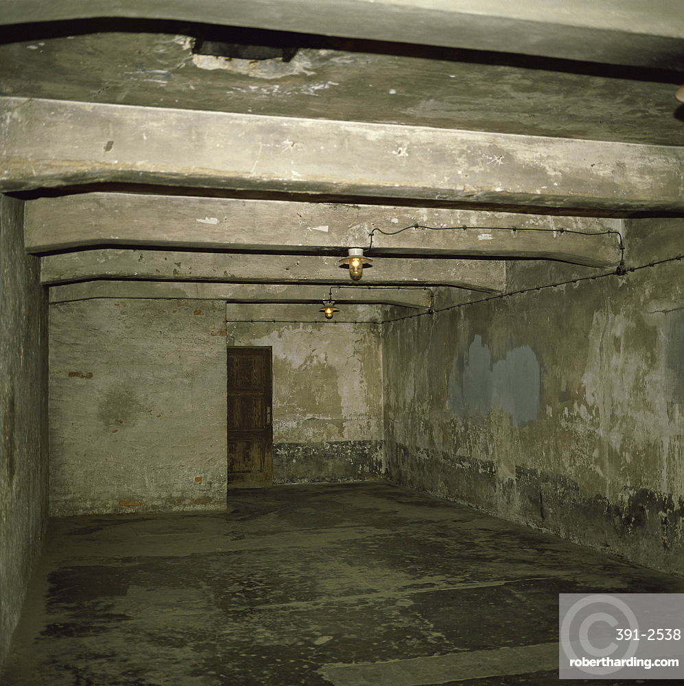 Gas chamber, Auschwitz Concentration Camp, | Stock Photo