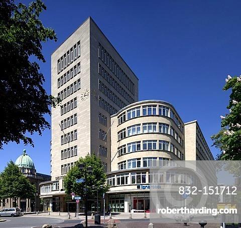 Deutschlandhaus administrative building, Essen, Ruhrgebiet region, North Rhine-Westphalia, Germany, Europe