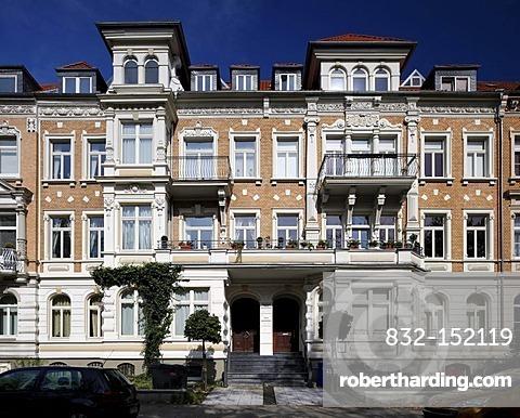 Wilhelminian buildings on Jasperallee avenue, Braunschweig, Lower Saxony, Germany, Europe