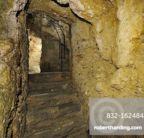 Celtic Hypogeum, also known as Roman jail or Lombard prison, Cividale, Friuli, Italy, Europe