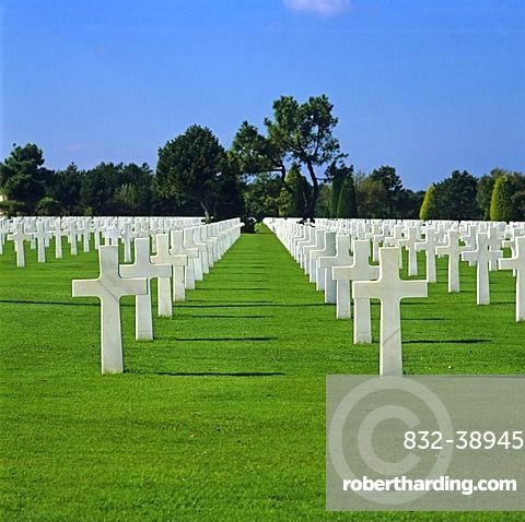 American Military Cemetery, Coleville sur Mer, Normandy, France, Europe