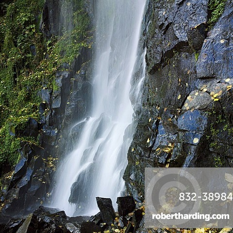 Waterfall of Vaucoux, Puy de Dome, Auvergne, France, Europe