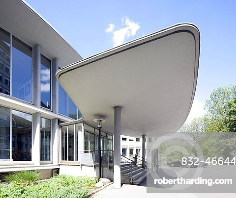 New City Hall, former administration building of Leica AG, Wetzlar, Hesse, Germany, Europe, PublicGround
