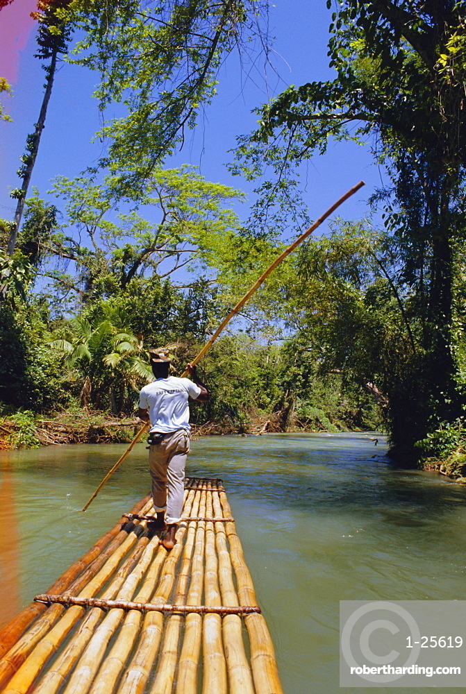Rafting on the Martha Brae River, Jamaica, Caribbean, West Indies