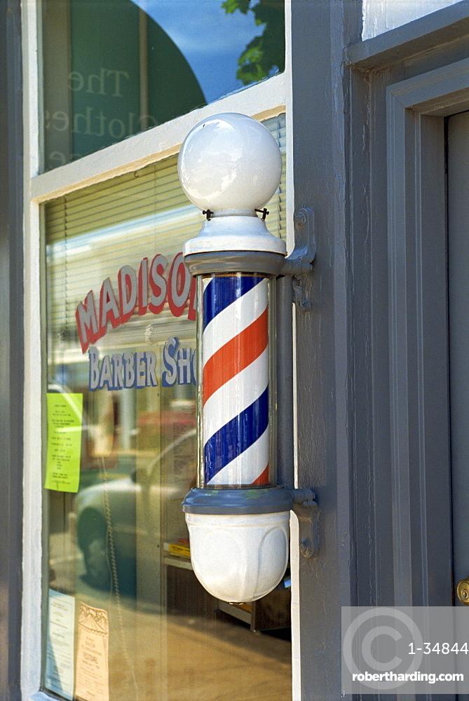Barber's shop, Warrenton, Virginia, United States of America, North America
