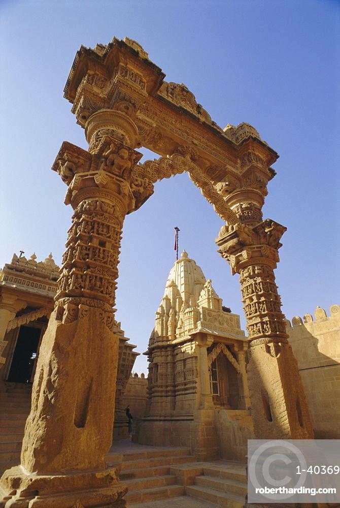 The Jain Temple of Luderwa or Lodurva near Jaisalmer, Rajasthan, India