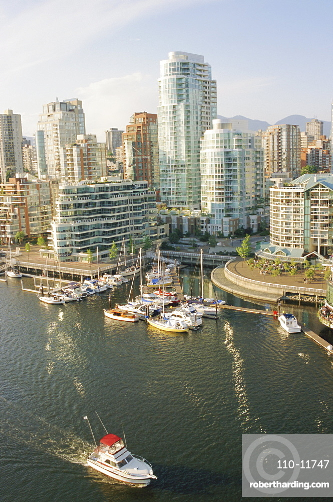 False Creek and apartments, Vancouver, British Columbia, Canada