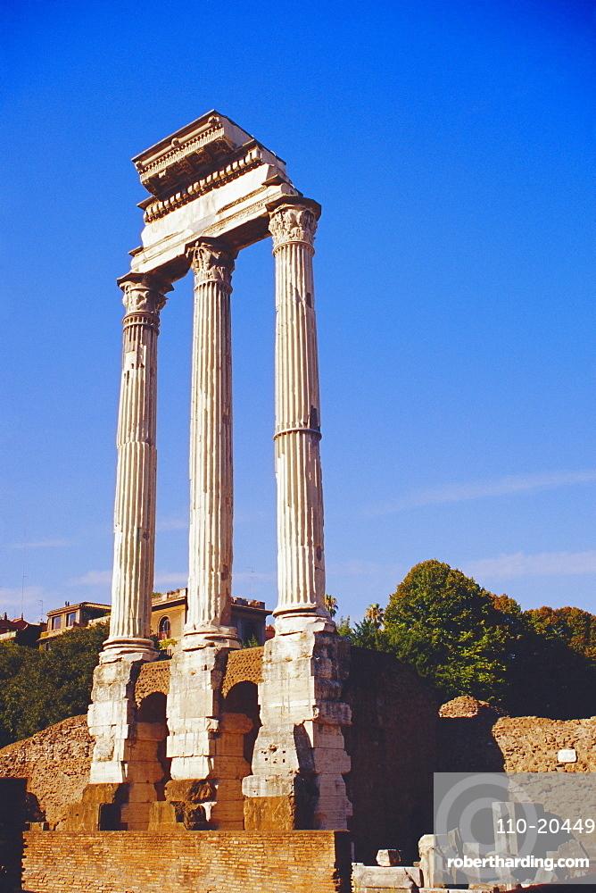 Temple of Castor & Pollux, Roman Forum, Rome, Lazio, Italy