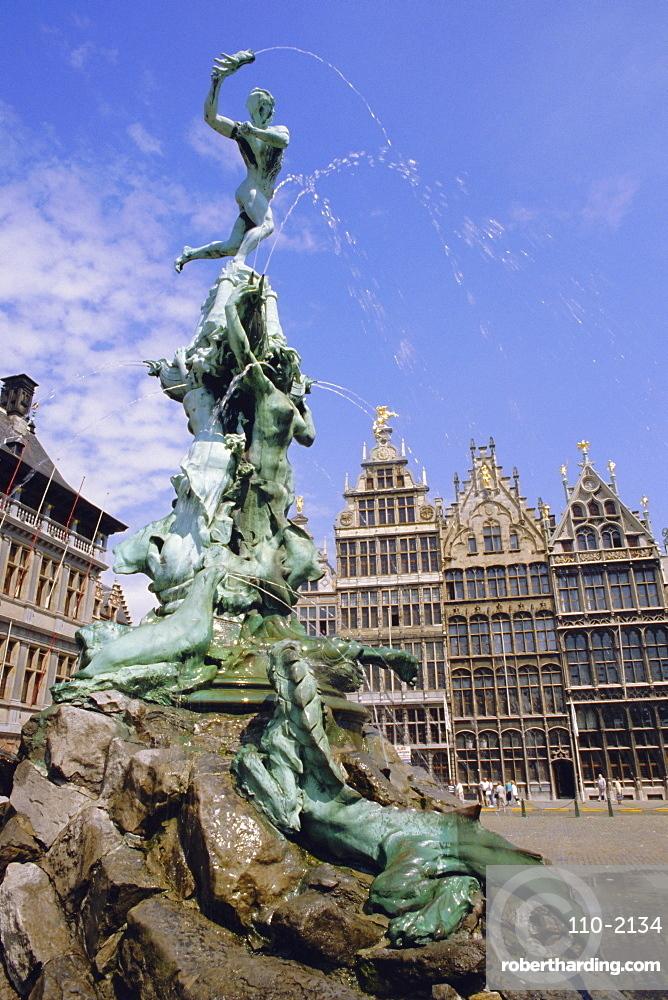 Brabo Statue, Antwerp, Belgium