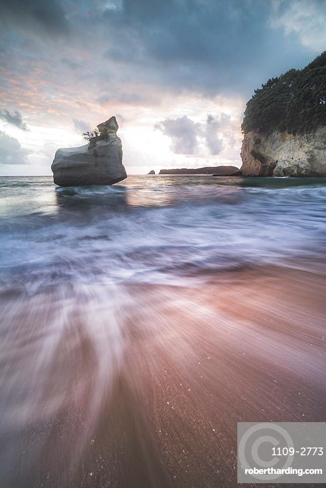 Cathedral Cove at sunrise, Coromandel Peninsula, North Island, New Zealand, Pacific