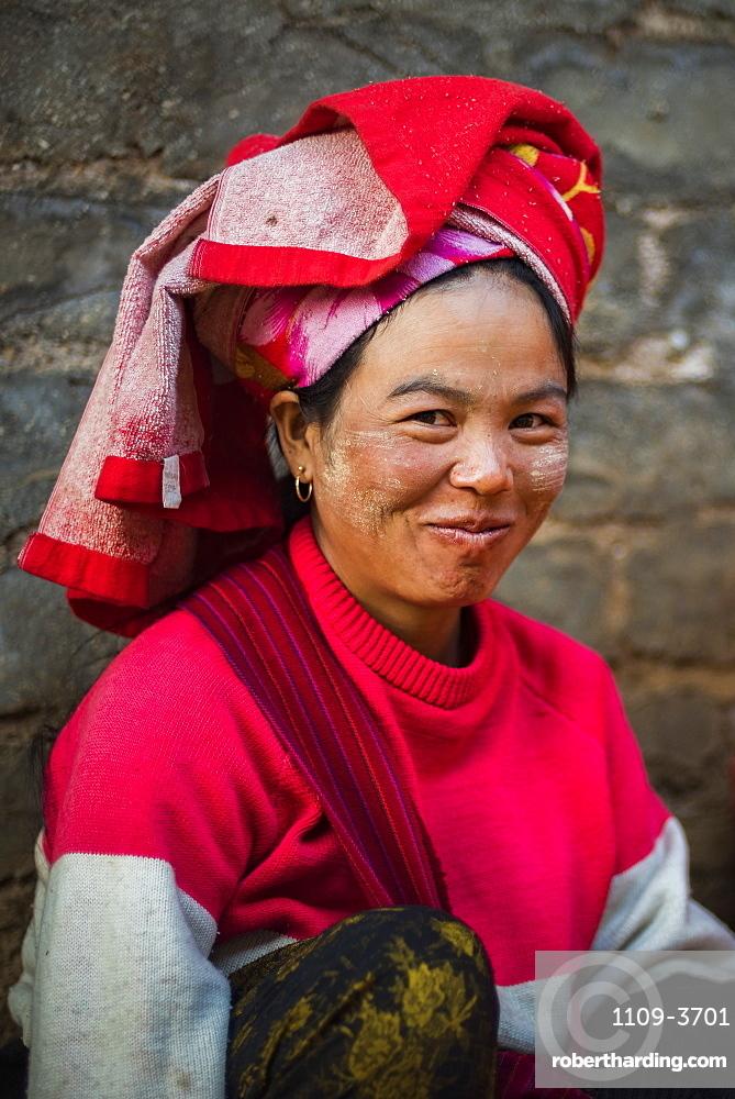 Portrait taken at Pindaya food market, Shan State, Myanmar (Burma), Asia