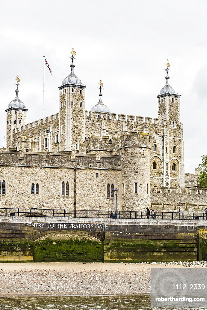 Traitor's Gate and Tower of London, UNESCO World Heritage Site, as viewed from the River Thames, London, England, United Kingdom, Europe