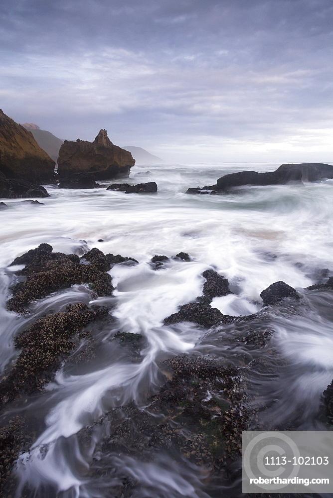 Breaking waves at Brenton-on-Sea, Indian Ocean, Knysna, Western cape, South Africa