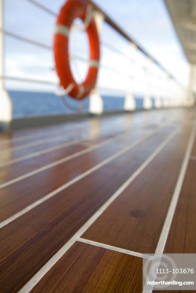 MS Bremen, wooden deck, Aboard MS Bremen Cruise Ship, Hapag-Lloyd Kreuzfahrten, Germany