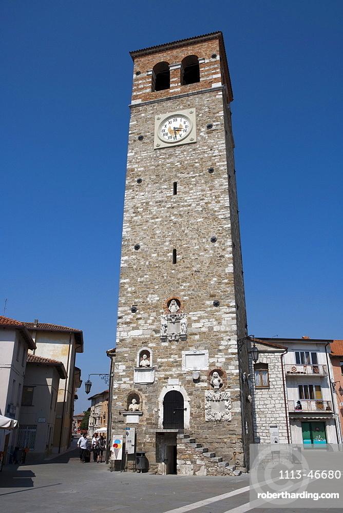 Torre Patriarcale tower, Marano Lagunare, Friuli-Venezia Giulia, Italy