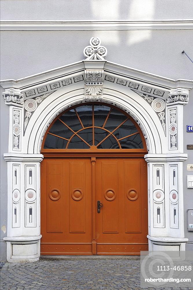 Entrance, old city of Goerlitz, Goerlitz, UNESCO World Heritage, Goerlitz, Saxony, Germany, Europe