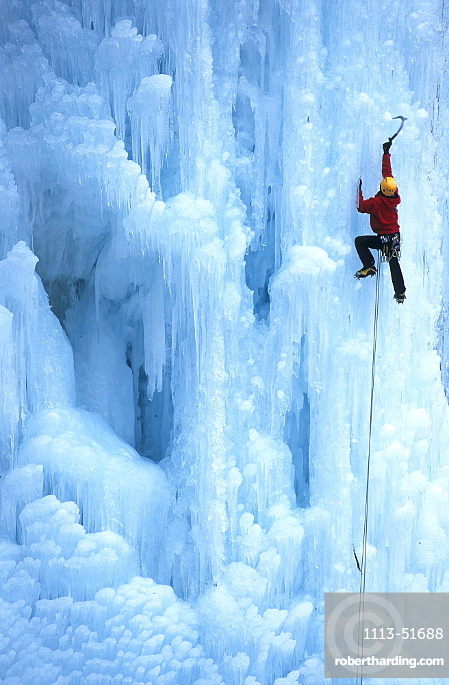 Ice climber, Leardal, Norway