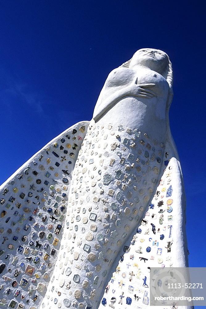Mermaid sculpture, Fruen Fra Havet from Artist Marit Benthe Norheim, Saeby, Northern Jutland, Denmark