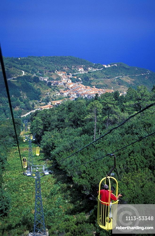 Lift to Monte Capanne, Elba, Tuscany, Italy