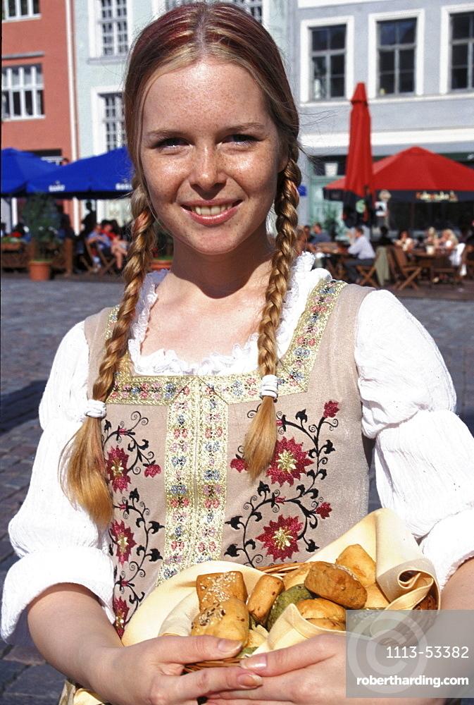 Waitress, Town Hall Square, Tallinn, Estonia