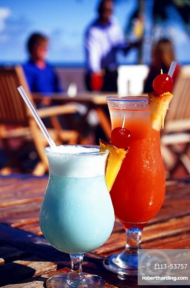 Exotic drinks, Blue Haven Hotel Scarborough, Trinidad und Tobago, Caribbean