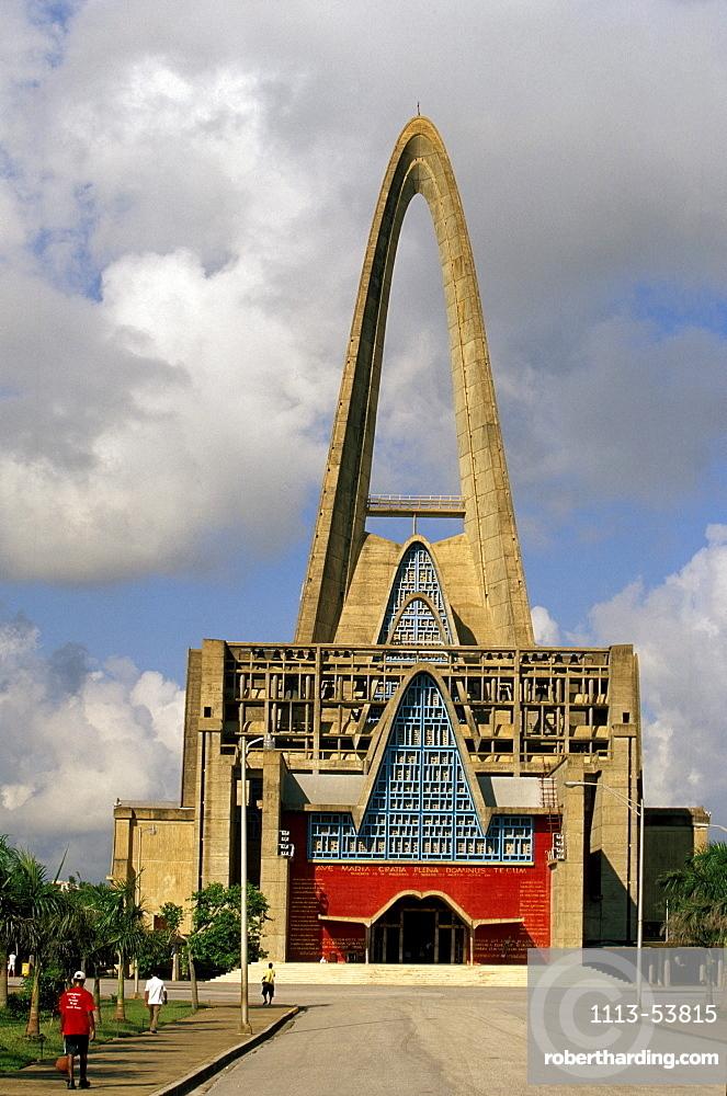Front entrance of Basilica de Nuestra Senora de la Altagracia, Higuey, Dominican Republic, Caribbean